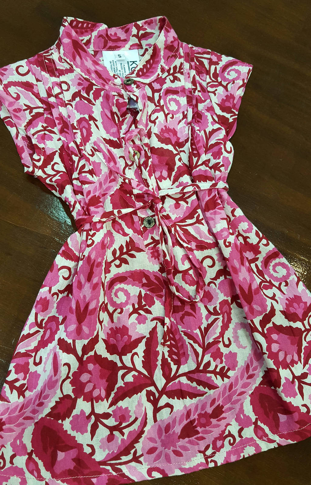 0cbbaedc08e Little Annie girl s cotton shirt dress. Pink paisley. Sizes to fit 6 month  old ...