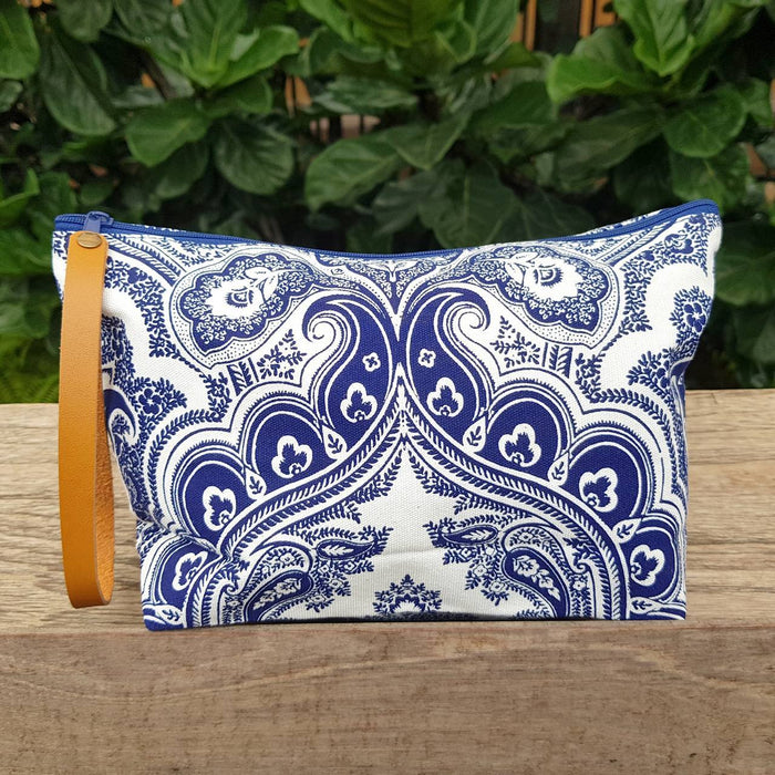 Anything Goes Clutch Bag - Paisley Indigo