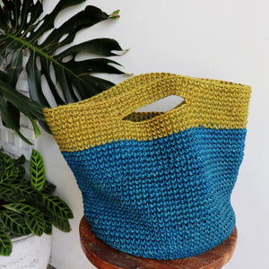 Tigris Handbag is individually hand knitted