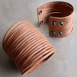Rawhide Leather Cuff Bracelet