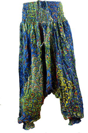girl's aladdin genie pants playsuit indian dark navy blue. Sizes to fit 1 year old baby to 12 year old tween.