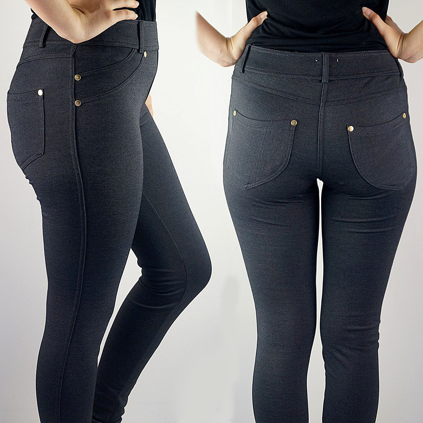 01b1d53b1ea614 Stretch leggings made from cotton + spandex. A comfortable full length pant  for the winter ...