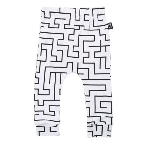 Kipp Kids Pants - Maze White/Black