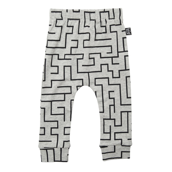 Kipp Kids Pants - Maze Grey/Black