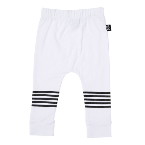 Kipp Kids Five Stripe Pant in white