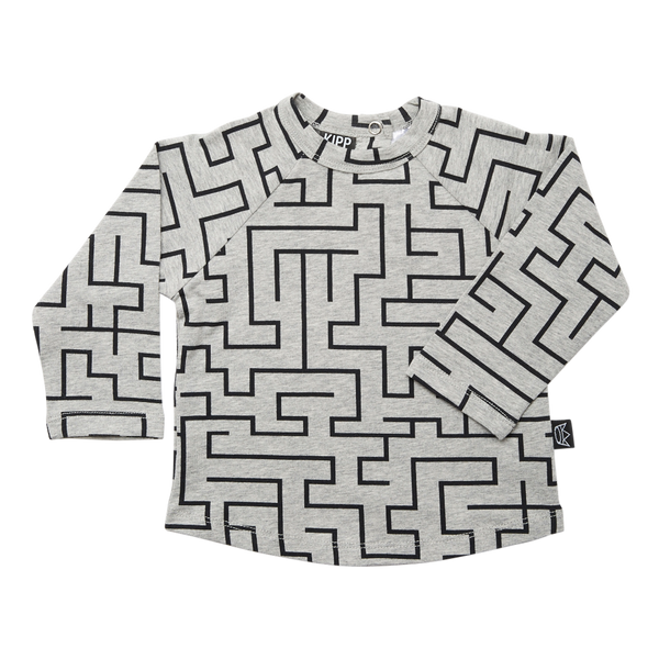 Kipp Kids Long Sleeve T-shirt - Maze Grey/Black