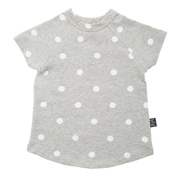 Kipp Kids Short Sleeve T-shirt - Dots Grey/White