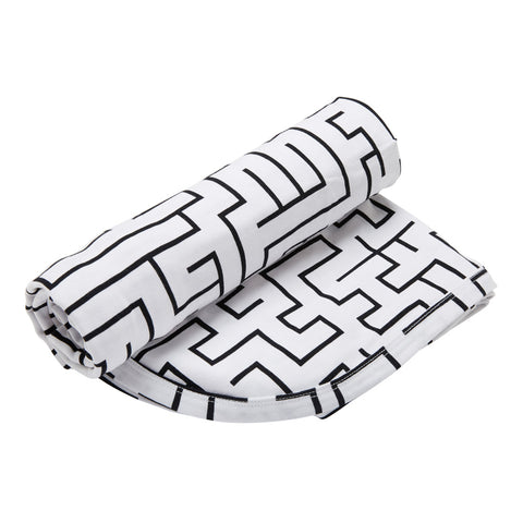 Kipp Kids Swaddle/Blanket - Maze White/Black