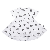 Kipp Kids Short Sleeve Spin Dress - Numbers White/Black
