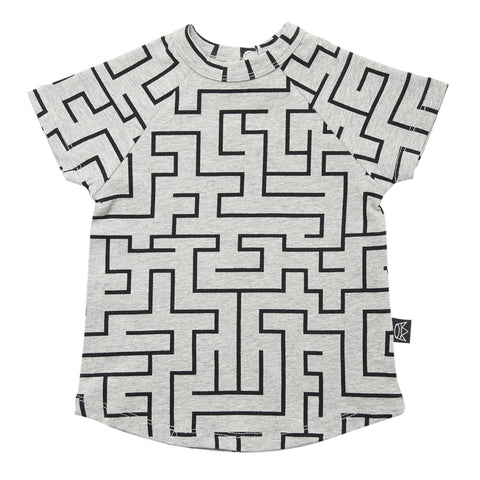 Kipp Kids Short Sleeve T-shirt - Maze Grey/Black