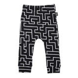 Kipp Kids Pants - Maze Black/White