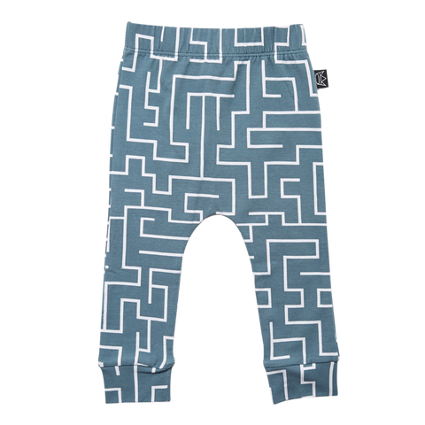 Kipp Kids Pants - Maze Sea/White