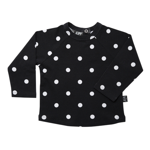 Kipp Kids Long  Sleeve T-shirt - Dot It Black/White