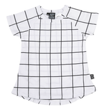 Kipp Kids Short Sleeve T Dress White/Black Check