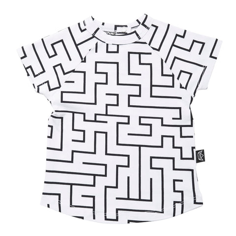Kipp Kids Short Sleeve T-shirt - Maze White/Black