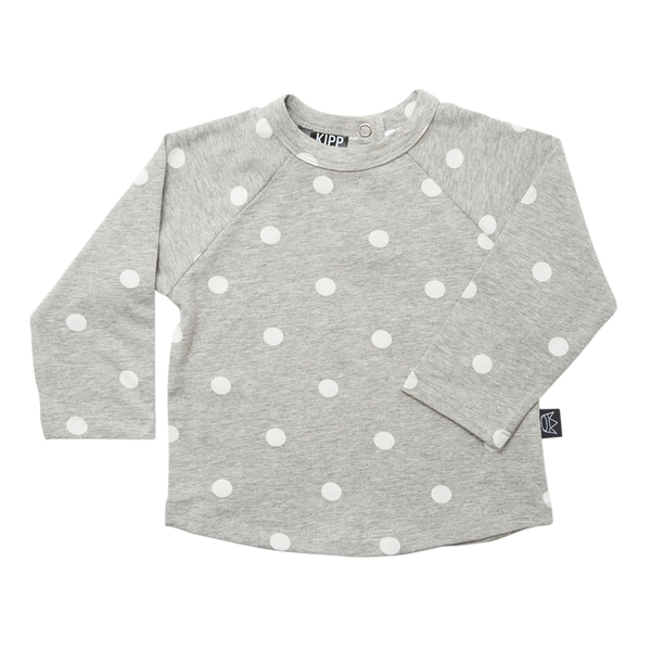 Kipp Kids Long Sleeve T-shirt - Dot It Grey/White