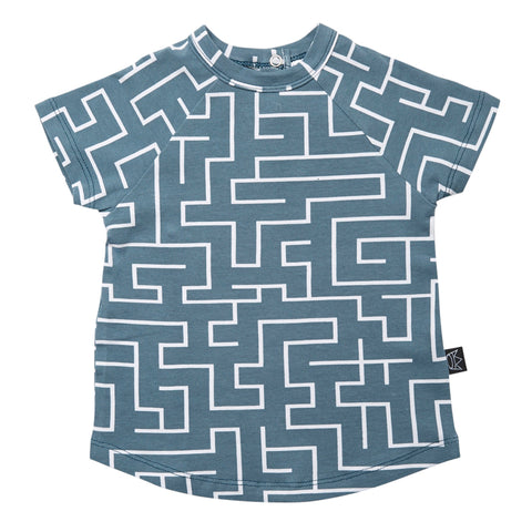 Kipp Kids T-Shirt - Maze Sea/White