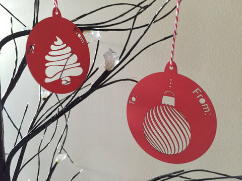 Vintage Christmas Bauble Gift Tags