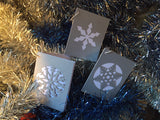 Snow Flake Christmas Gift Card Pack - Swank Creations - 1