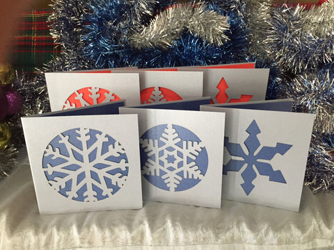 Snow Flake Christmas Card Pack *with flair*