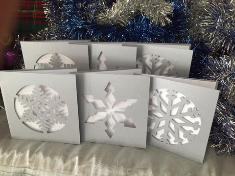 Snow Flake Christmas Card Pack