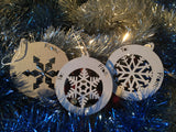 Snow Flake Bauble Gift Tags - Swank Creations - 2