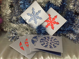 Snow Flake Christmas Card Pack *with flair* - Swank Creations - 2