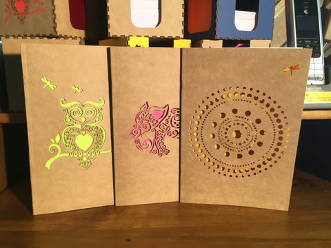 swanky laser-cut notebooks