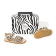 pretty brave child sandal leopard box