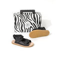 pretty brave child sandal black box