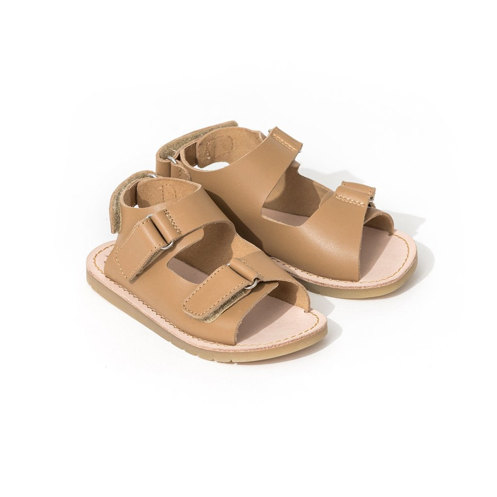 pretty brave child sandal tan pair