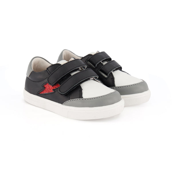 pretty brave black rock xo trainer children sneaker pair