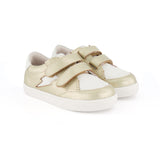 pretty brave gold xo trainer children sneaker pair