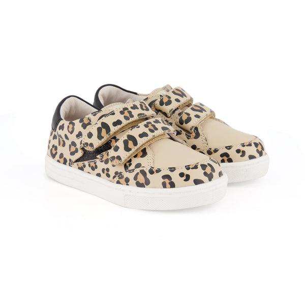 pretty brave leopard xo trainer children sneaker pair