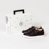Pretty Brave XO trainer sneaker black childrens box