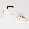 Pretty Brave XO trainer sneaker blush childrens box