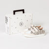 Pretty Brave XO trainer sneaker spots childrens box