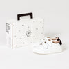 Pretty Brave XO trainer sneaker white childrens box