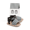 gingham blake sandal box PrettyBrave baby shoe for girl