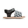 gingham blake sandal side PrettyBrave baby shoe for girl