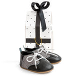 oxford black box Pretty Brave baby shoes boy wedding