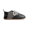 oxford black side Pretty Brave baby shoes boy wedding