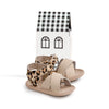 leopard valencia sandal box Pretty Brave baby shoes