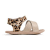 leopard valencia sandal side Pretty Brave baby shoes