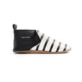 black & white stripe slip-ons side Pretty Brave baby shoes