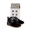 black soft-top box Pretty Brave baby shoes