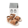 chestnut valencia sandal box of Pretty Brave baby shoes
