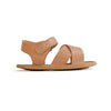 chestnut valencia sandal side Pretty Brave baby shoes