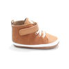 cinnamon hi top boot side Pretty Brave baby shoes