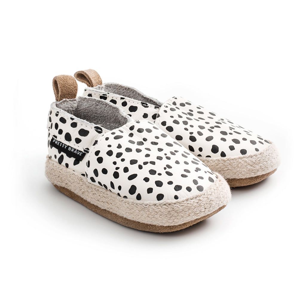 wild spot espadrille pair Pretty Brave baby shoes